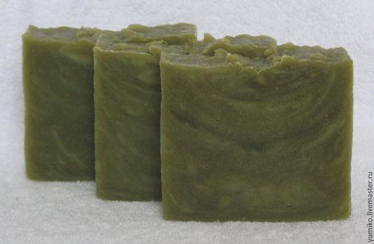 Мыло ручной работы. Ярмарка Мастеров - ручная работа. Купить Мыло с масломи Таману, лавра и нима. Handmade. Зеленый