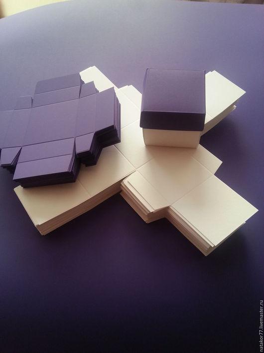 Персональные подарки ручной работы. Ярмарка Мастеров - ручная работа. Купить Коробочка мини из дизайнерской бумаги. Handmade. Разноцветный