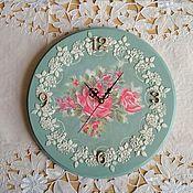 """Настенные часы """"Кружева из роз"""""""