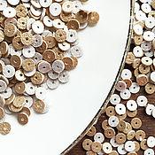 Материалы для творчества ручной работы. Ярмарка Мастеров - ручная работа Пайетки, плоские пайетки, круглые пайетки, золото, 5 мм. Handmade.