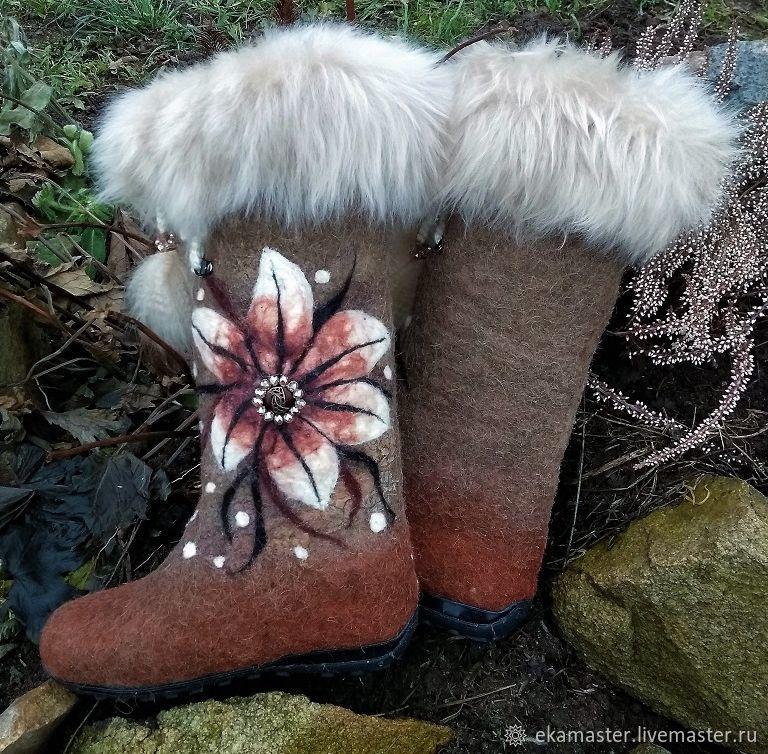 boots: Boots - samochody 'Uralskie SKAZY', Felt boots, Ekaterinburg,  Фото №1