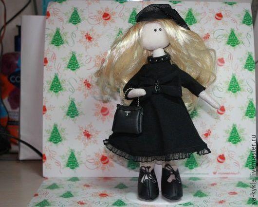 Коллекционные куклы ручной работы. Ярмарка Мастеров - ручная работа. Купить Текстильная кукла Софи. Handmade. Черный, кукла