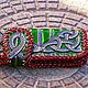 Кошельки и визитницы ручной работы. Кошелек кожаный 'Классические кельтские узлы' цветной. Хельга Шванцхен. Интернет-магазин Ярмарка Мастеров.