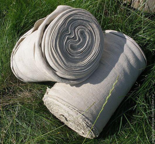 Шитье ручной работы. Ярмарка Мастеров - ручная работа. Купить винтажный домотканый лен. Handmade. Лен, домоткатый лен