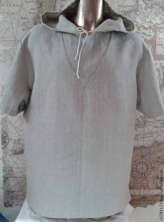 """Для мужчин, ручной работы. Ярмарка Мастеров - ручная работа. Купить Рубаха """"Скоро лето"""". Handmade. Серый, мужская одежда"""