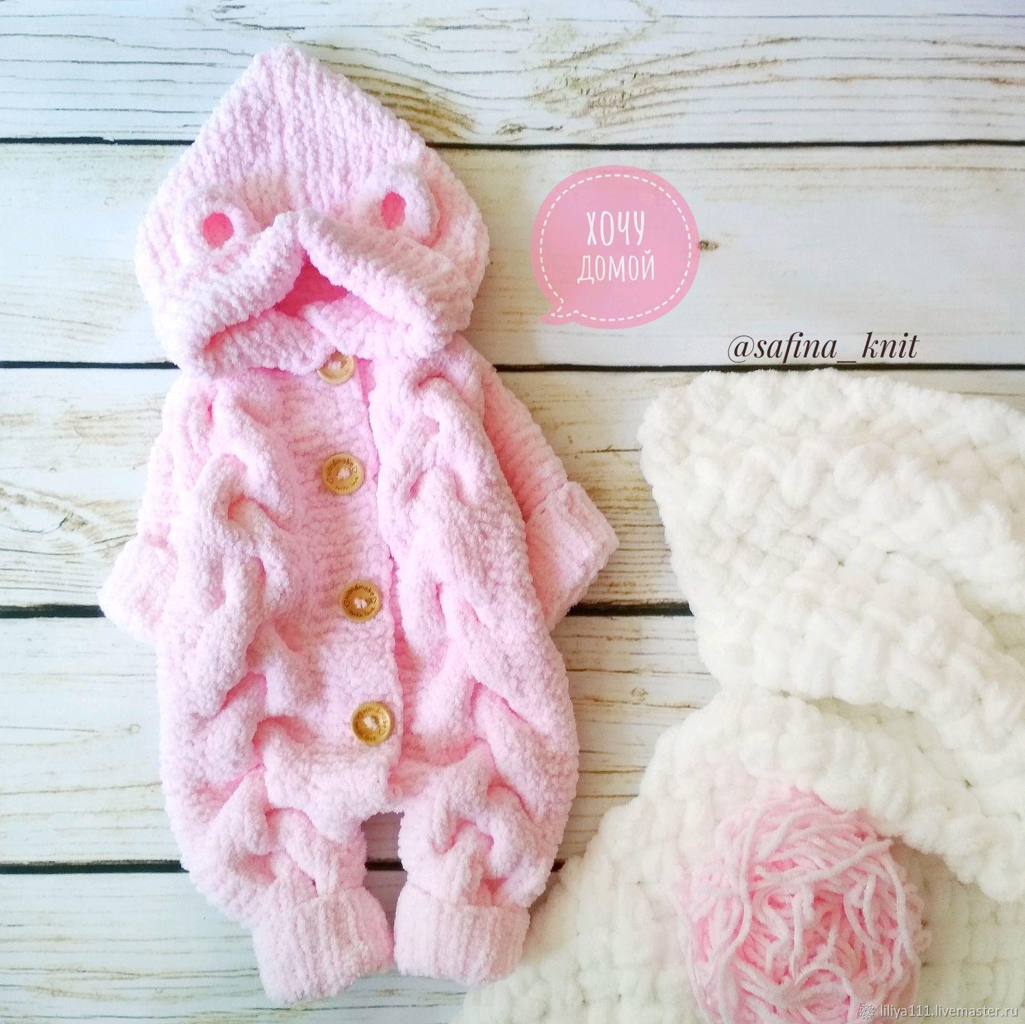 Одежда ручной работы. Ярмарка Мастеров - ручная работа. Купить Плюшевый мишка. Handmade. Комбинезон детский, для новорожденной, одежда для новорожденных