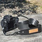 Аксессуары ручной работы. Ярмарка Мастеров - ручная работа Кожаный ремень для зеркального фотоаппарата. Handmade.