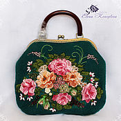 Сумки и аксессуары handmade. Livemaster - original item Bag garden felted wool scarf. Handmade.