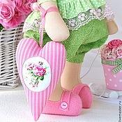 Куклы и игрушки ручной работы. Ярмарка Мастеров - ручная работа Зайка текстильная Влюблённая в розы. Handmade.