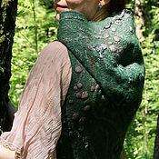 """Одежда ручной работы. Ярмарка Мастеров - ручная работа Жилет войлочный """"Глубина зеленого"""". Handmade."""
