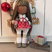 Куклы и игрушки ручной работы. Ярмарка Мастеров - ручная работа Интерьерная текстильная кукла Маруся. Handmade.