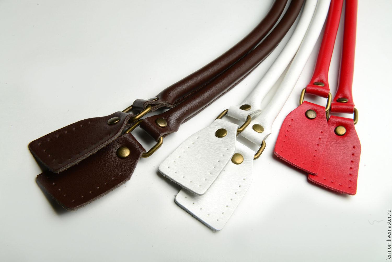 Ручки кожаные для сумки, 62 см, пара, Фурнитура для сумок, Екатеринбург,  Фото №1