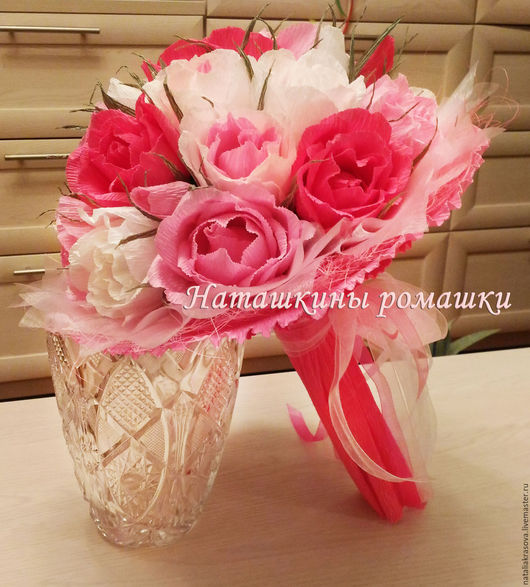 """Букеты ручной работы. Ярмарка Мастеров - ручная работа. Купить Букет из конфет """"Розовое облако"""". Handmade. Розовый, сладкий букет"""