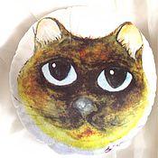 Для дома и интерьера ручной работы. Ярмарка Мастеров - ручная работа Круглая подушка с принтом Тайская. Handmade.