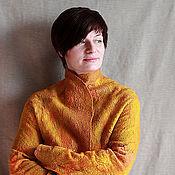 """Одежда ручной работы. Ярмарка Мастеров - ручная работа Жакет валяный """"Солнечная акварель"""" войлок. Handmade."""