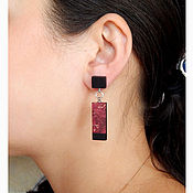 Украшения handmade. Livemaster - original item Light rectangular earrings.. Handmade.