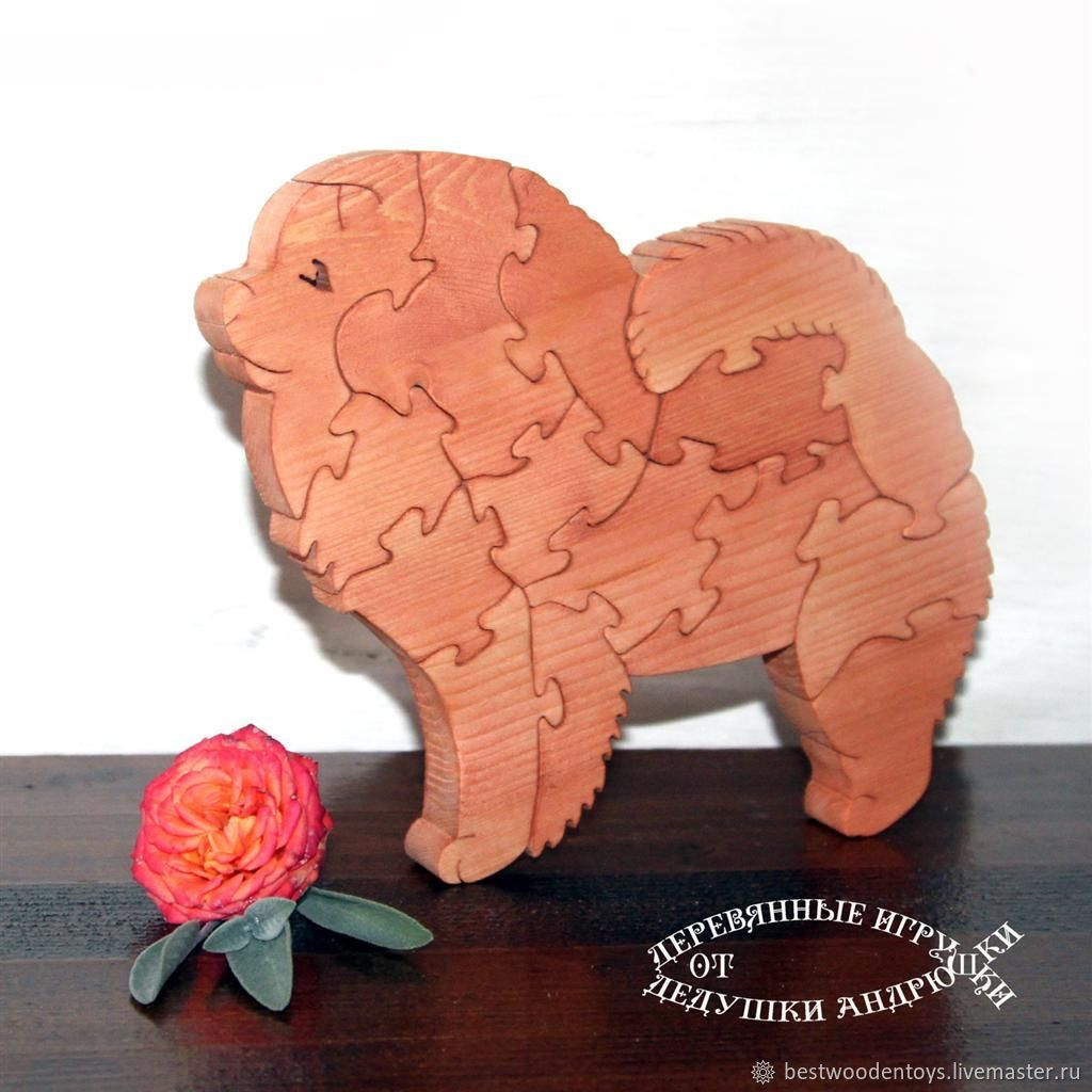 Puzzle of wood Dogs, Stuffed Toys, Voskresensk,  Фото №1