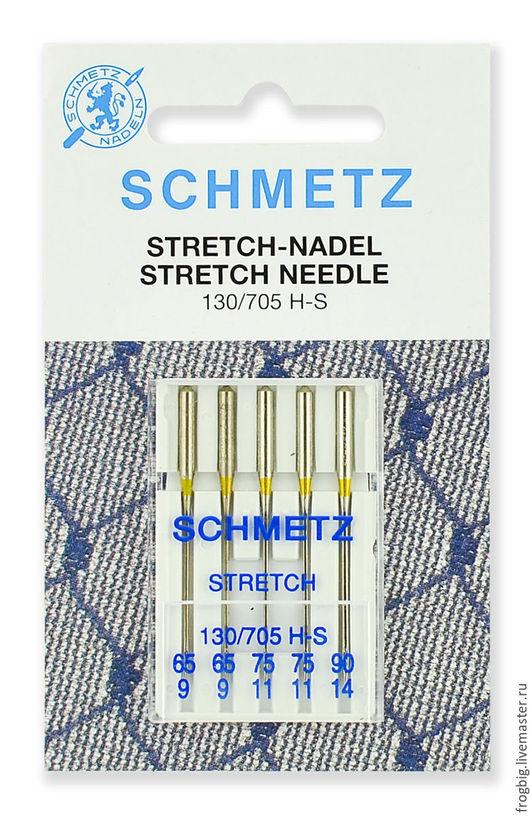 Шитье ручной работы. Ярмарка Мастеров - ручная работа. Купить Иглы стретч  Schmetz  130/705H-S №65 (2) 75(2), 90(1) 5 шт.. Handmade.