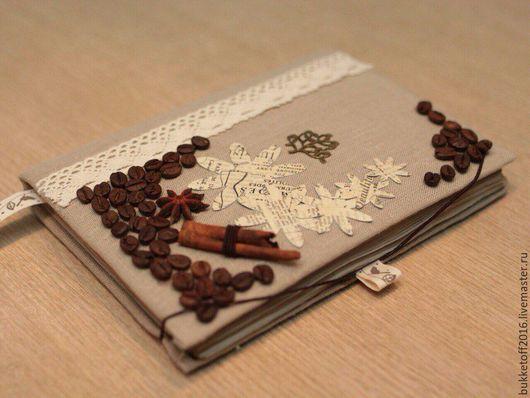 """Блокноты ручной работы. Ярмарка Мастеров - ручная работа. Купить Блокнот ручной работы. """"Ароматный кофе"""". Handmade. Комбинированный"""