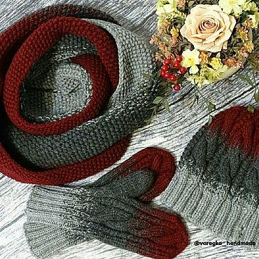 Одежда ручной работы. Ярмарка Мастеров - ручная работа Вяжу на заказ, шапки, снуды, шарфы, варежки. Handmade.
