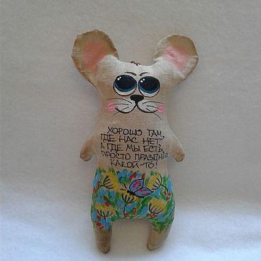 Куклы и игрушки ручной работы. Ярмарка Мастеров - ручная работа Игрушки: Кофейная мышка. Handmade.