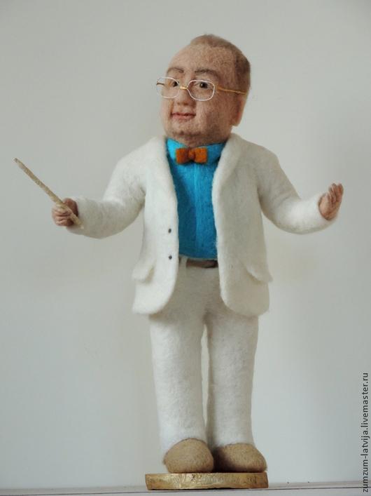 Портретные куклы ручной работы. Ярмарка Мастеров - ручная работа. Купить Портретная кукла Дирижёр. Handmade. Белый, светлый