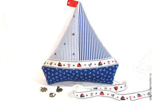 Детская ручной работы. Ярмарка Мастеров - ручная работа. Купить Игрушка-подушка Кораблик. Handmade. Синий, детская комната