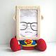 """Фоторамки ручной работы. Ярмарка Мастеров - ручная работа. Купить Фоторамка """"Супермен"""". Handmade. Супермен, мужчине, вязаная игрушка, пряжа"""
