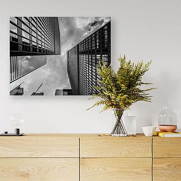 Картины и панно ручной работы. Ярмарка Мастеров - ручная работа Картина на холсте Небоскрёбы. Handmade.