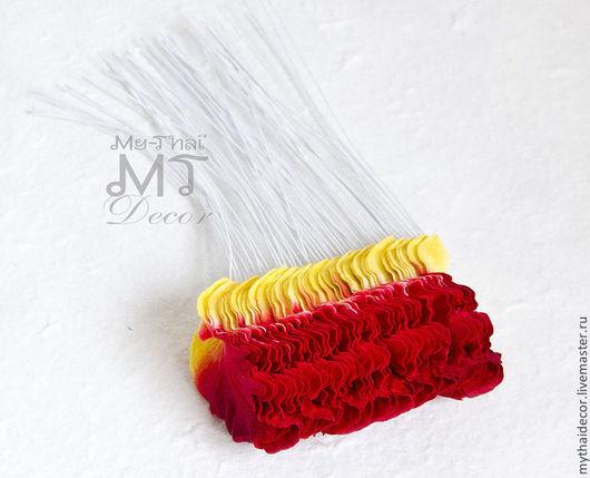 Лепестки красно-желтые мелкая волна My Thai Малбери флористика из Таиланда