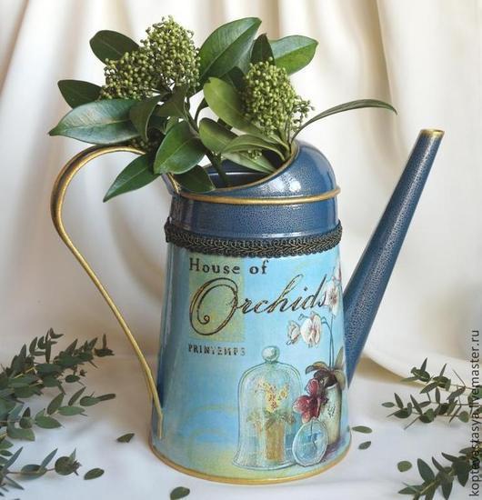 """Лейки ручной работы. Ярмарка Мастеров - ручная работа. Купить Лейка для цветов  """"House of Orchids"""".. Handmade. Синий"""