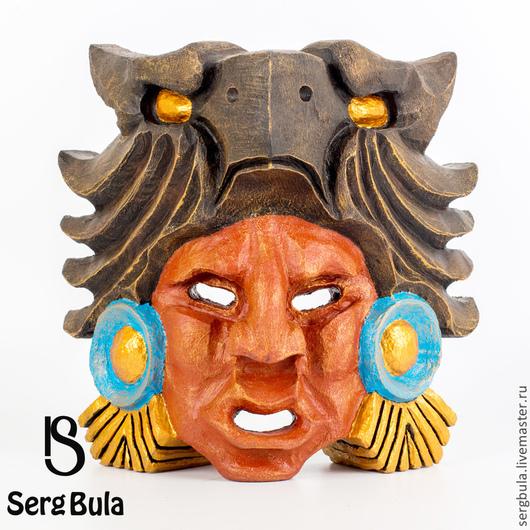 Интерьерные  маски ручной работы. Ярмарка Мастеров - ручная работа. Купить Маска ацтекского война-орла. Handmade. Интерьерная маска
