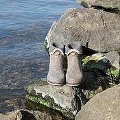 """Обувь ручной работы. Ярмарка Мастеров - ручная работа Валяные полусапожки """"Анита"""". Handmade."""