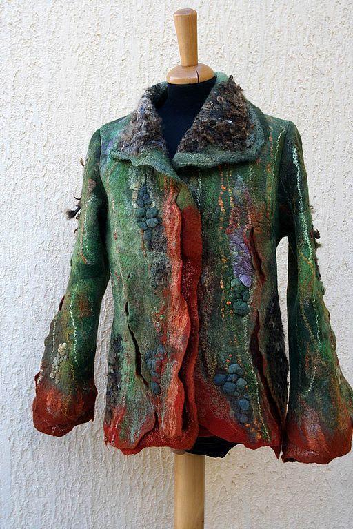 Пиджаки, жакеты ручной работы. Ярмарка Мастеров - ручная работа. Купить Жакет Терра Инкогнита. Handmade. Валяный жакет