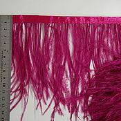 handmade. Livemaster - original item Trim of ostrich feathers 10-15 cm dark fuxia. Handmade.