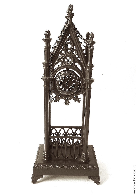 Antique Vintage 1895год Podcast Kiosk Gothic Clock Cast iron Kasli, Vintage interior, Moscow,  Фото №1