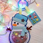 Игрушки-искалки ручной работы. Ярмарка Мастеров - ручная работа Игрушка искалка снеговик. Handmade.