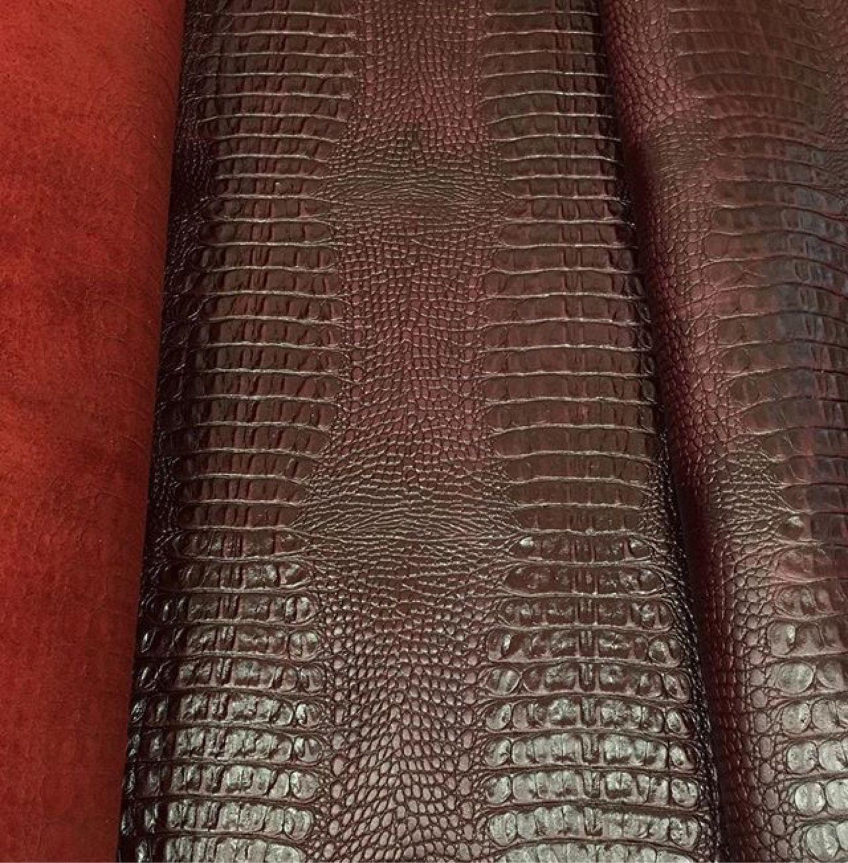 21fd3a767a29 Натуральная кожа КРС КРОКО галантерейная под рептилию винный ...