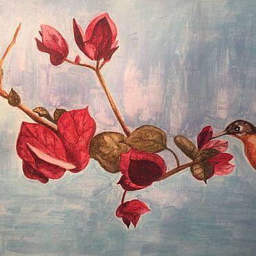 Картины и панно ручной работы. Ярмарка Мастеров - ручная работа Картины: Колибри. Handmade.