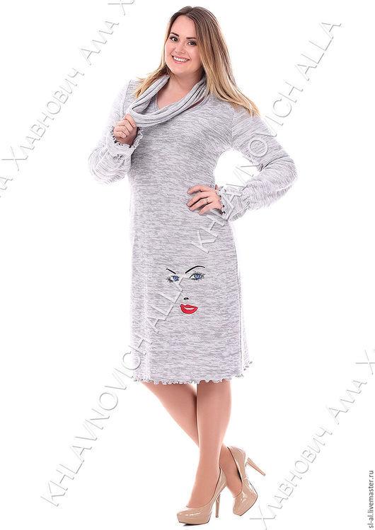 """Платья ручной работы. Ярмарка Мастеров - ручная работа. Купить Платье-свитер """"Эти глаза напротив"""" Модель 36-В. Handmade."""