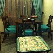 """Для дома и интерьера ручной работы. Ярмарка Мастеров - ручная работа Стол """" Роза пыльная"""" мозаика. Handmade."""