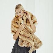 Аксессуары handmade. Livemaster - original item Fox fur stole in red. Handmade.