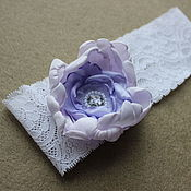 Свадебный салон ручной работы. Ярмарка Мастеров - ручная работа Свадебная подвязка невесты сиреневая ручной работы. Handmade.