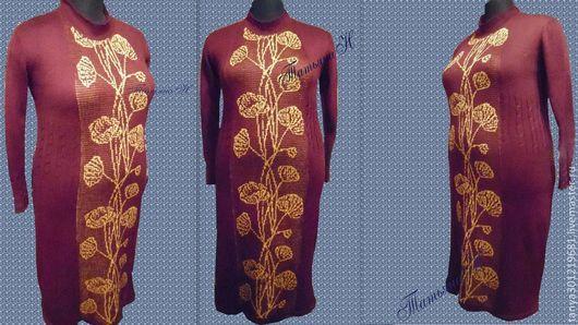 """Платья ручной работы. Ярмарка Мастеров - ручная работа. Купить Платье """" Букет """". Handmade. Бордовый, большой размер"""