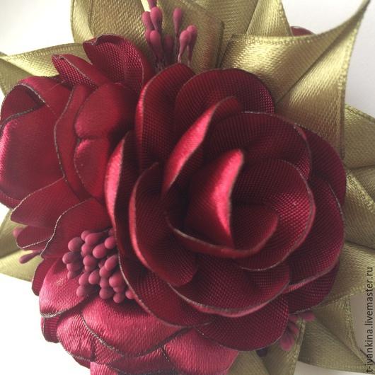 """Заколки ручной работы. Ярмарка Мастеров - ручная работа. Купить Заколка для волос """"Бордо"""". Handmade. Бордовый, заколка с цветами"""
