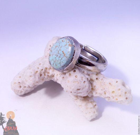 """Кольца ручной работы. Ярмарка Мастеров - ручная работа. Купить Кольцо """"Turquoise in Silver""""  (Бирюза, Серебрение). Handmade. Голубой"""