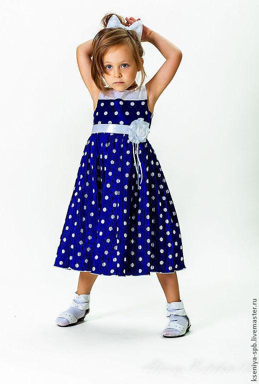 Одежда для девочек, ручной работы. Ярмарка Мастеров - ручная работа. Купить Летнее платье для девочки в горошек. Handmade. В горошек