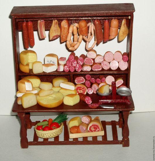 """Кукольный дом ручной работы. Ярмарка Мастеров - ручная работа. Купить """"Мясная лавка"""". Handmade. Кукольная миниатюра, деревянные заготовки"""