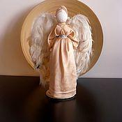 Мягкие игрушки ручной работы. Ярмарка Мастеров - ручная работа Ангел Хранитель в золотом кукла-оберег. Handmade.