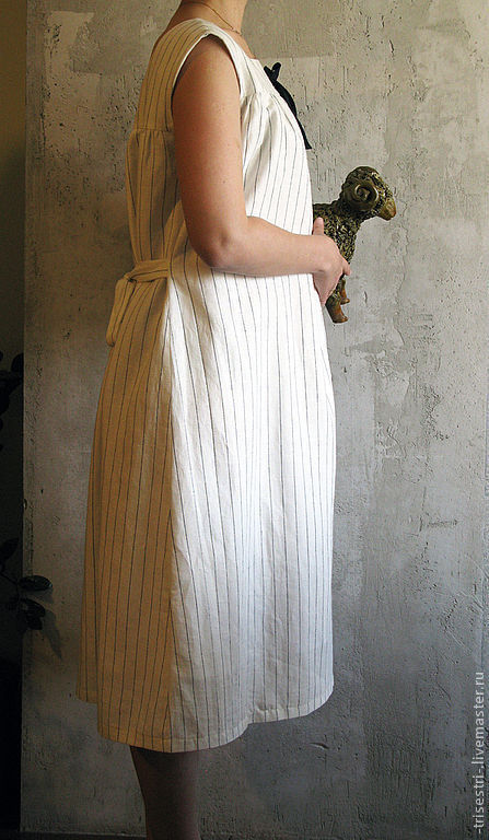 """Платья ручной работы. Ярмарка Мастеров - ручная работа. Купить Платье """"Паром из Одессы"""" в полоску. Handmade. Авторская одежда"""